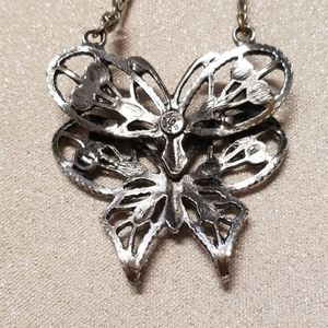 Jewelry - Double Butterfly Silver Necklace